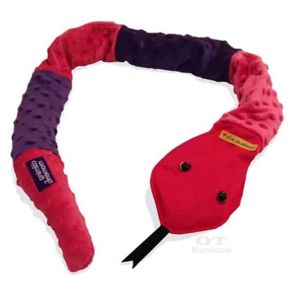 Sensory Weighted Snake Snake Buddy Pink Purple C 2 cm2