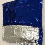 Blue / Silver Sequin Cushion 3kg