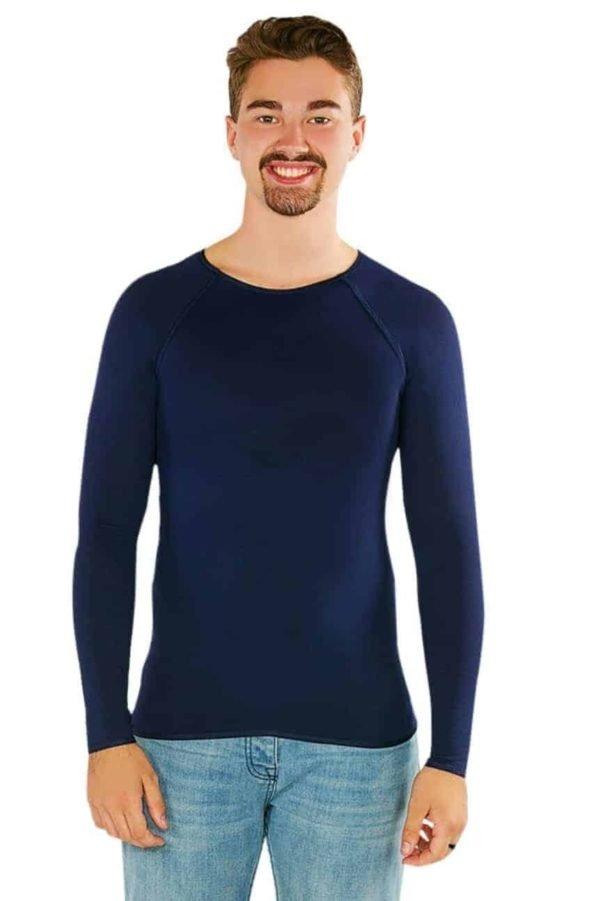 cdn otwarehouse com au Mens black long sleeves shirt sensory clothing 1