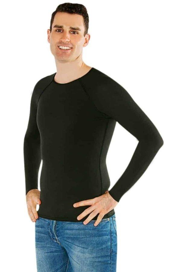 cdn otwarehouse com au Mens black long sleeves shirt sensory clothing 2