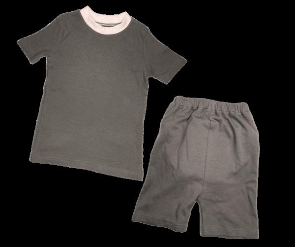 8 Gray Short Sleeve Shirt with Shorts 2 1