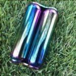 Oil slick rainbow finish