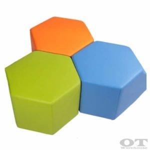 hexagonal ottomans for kids