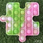 Lime, pink & white puzzle