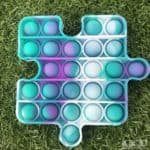 Teal and purple puzzle