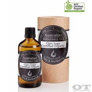 Clary Sage Essential Oil Certified Organic 100ml