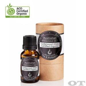 Cedarwood Essential Oil (Atlas) Certified Organic 15ml